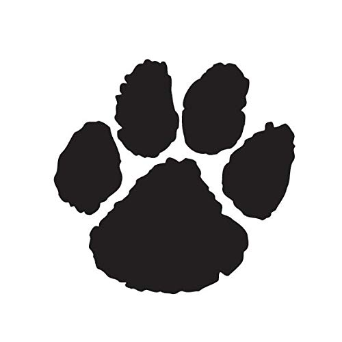 Paw Temporary Tattoo - Black - 100 Pack of School Spirit Stickers