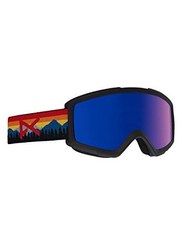 Anon Helix 2.0 Goggle W/Spare Lens, Range orange/Blue Cobalt - Anon Ski Goggles