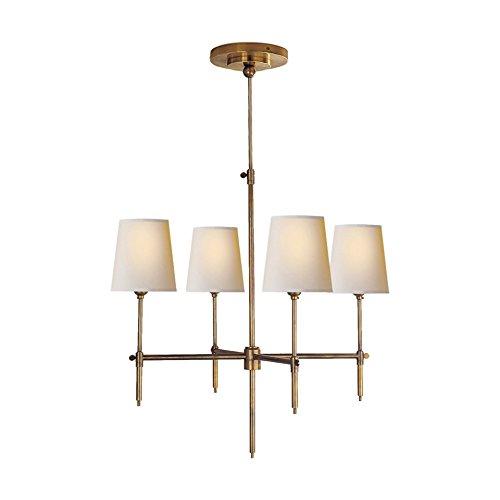 SaintMossi ELEGENT 4 Lights 23 inch Bronze Chandelier Modern Ceiling Light in Fabric Shade