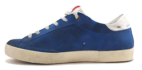 GOLDEN GOOSE Zapatillas de Ante Para Mujer Azul Turquesa