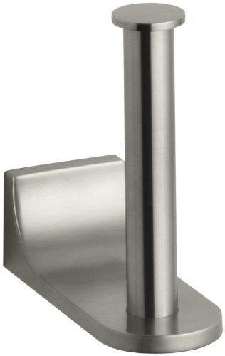 Kohler K-11583-BN Loure Vertical Toilet Tissue Holder, Vibrant Brushed Nickel by Kohler
