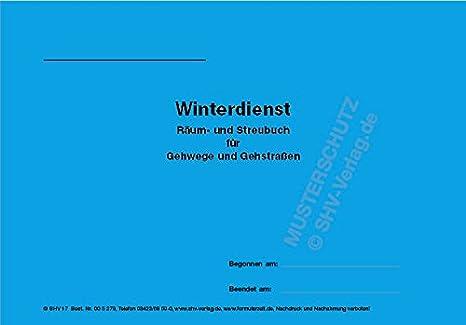 Winterdienst Streubuch Für Gehwege Und Gehstraßen Grundstücke