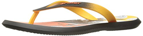 Rider Mens R1 Energy Vi Sandalo Nero / Giallo / Arancio