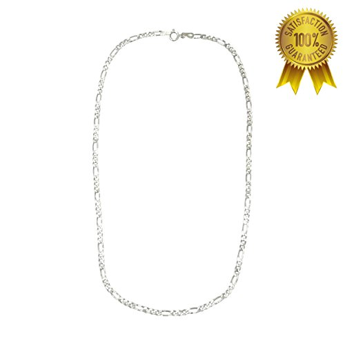 Figaro Mens Sterling Silver Chain (H & I Jewelers Sterling Silver 925 Italy Figaro Chain 3MM 16