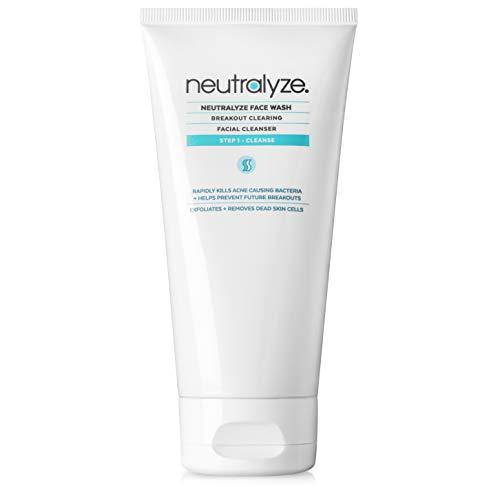 Neutralyze Moderate To Severe Acne Face Wash 2.0 - Maximum Strength Face Wash For Acne Prone Skin with 2% Salicylic Acid + 1% Mandelic Acid + Nitrogen Boost Skincare Technology (Effective Face Wash For Acne Prone Skin)