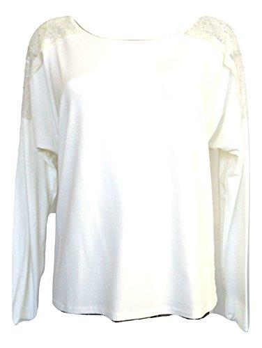 Patrizia Pepe Top à Manches Longues - Femme Blanc Bianco