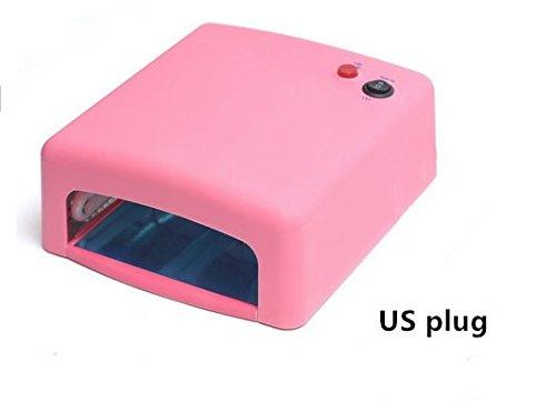 Yosa UV Gel Nail Art Lamp Dryer Manicure Light Gellish Curing Timer 36W +4 x 9W Blubs US Plug(pink)