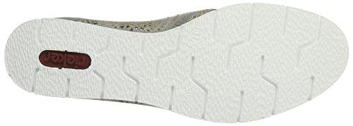Rieker Damen M1383 Slipper Grau (stahl / 43)