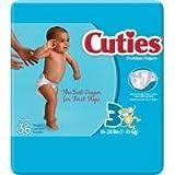 Cuties Premium Baby Diapers, Size 3, 36 ct Bag Image