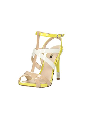 Guess sandalia Mujer Cacia Sandal Tacòn Cm 11,5 Pl. Cm 1 Leather Beige