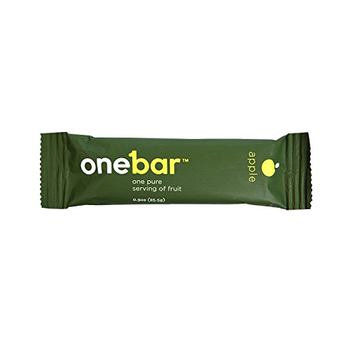 OneBar Fruit Bar – Natural, Gluten-Free Snack, Enriched with Baobab – Apple, 0.9 Ounce (Pack of 12)