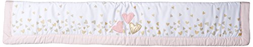 Lambs & Ivy Confetti Heart Crib Rail Cover, Pink/Gold Lamb Cover