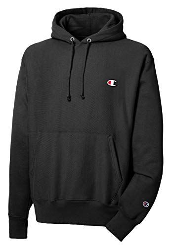 Champion Men's Reverse Weave Pullover Hoodie Print, Black, XX-Large