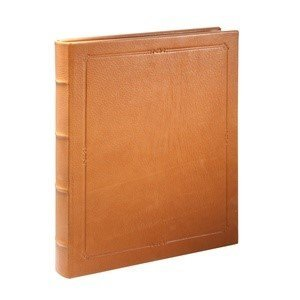 11 Inch Extra Large Hardcover Writing Journal, Genuine Calfskin Leather, Lined Pages, 8-3/4