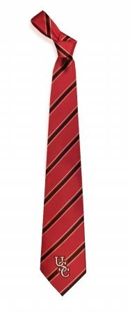 (South Carolina Gamecocks Striped Mens Neck Tie with NCAA College Sports Team Necktie Logo)