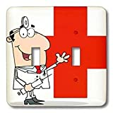 3dRose lsp_63105_2 Medical Doctor Double Toggle Switch
