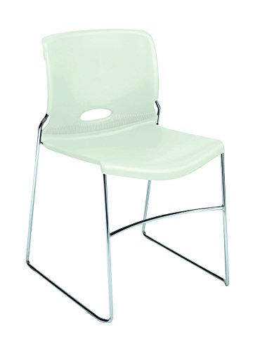 HON Olson Stacking Chair - Guest Chair for Office, Cafeteria, Break Rooms, Training or Multi-Purpose Rooms, Loft Shell, 4 pack (H4041) - Olson Stack