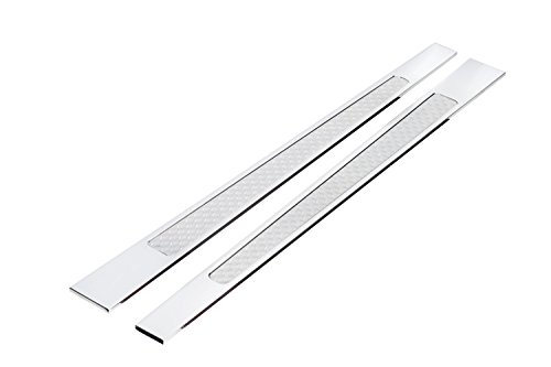 Lokar DSP-2005 Door Sill Plate, 32 Ford Goolsby Edition Billet Aluminum with Mother of Pearl Insert
