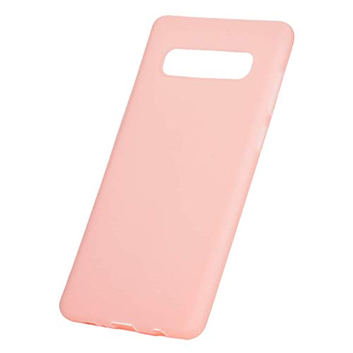 (HankuSoft Silicone TPU Case Cover for Samsung Galaxy s10e/s10/s10plus 6.1inch Phone Cases (Pink, s10e))