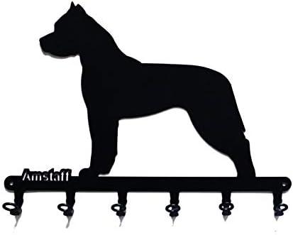 6 Haken Metall schwarz steelprint.de Schl/üsselbrett//Hakenleiste * Parson Russel Terrier * Schl/üsselboard Hund