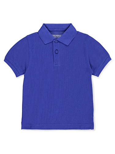 Unisex Boys Girls Short Sleeve Pique Polo Shirt w/Stain Release by Univ- Sku:Staniu838ROB2T; Color:ROYAL BLUE; Size:2T 2T