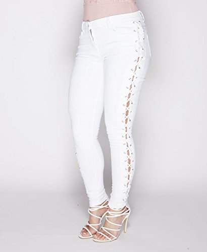 Fashions Vaqueros amp;Ayat mujer blanco para Momo axFdUwnF5