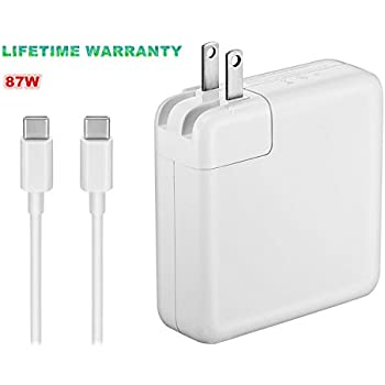 (Original Quality) 87W USB-C Power Adapter Replacement USB C AC Supply Charger Compatible with MacBook Pro Charger 15 Inch Laptop (USB-C Cable ...