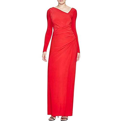Vera Wang Women's Jersey Fit & Flare Gown, Poppy, 10 ()