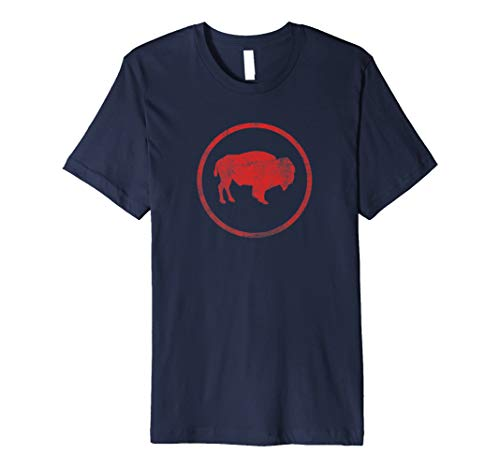 Vintage Retro Bison American Buffalo Simple T-Shirt