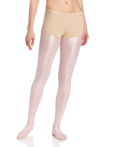 (Capezio Boy Cut Low Rise Shorts - Size Medium, Nude)