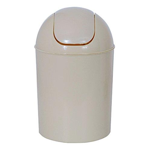 Schwingdeckeleimer Badeimer 5 Liter beige 30cm hoch ø19cm Kunststoff 100520
