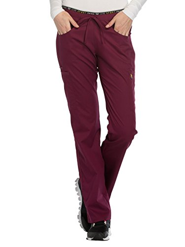 Cherokee Luxe Sport CK003 Mid Rise Drawstring Pant Wine S