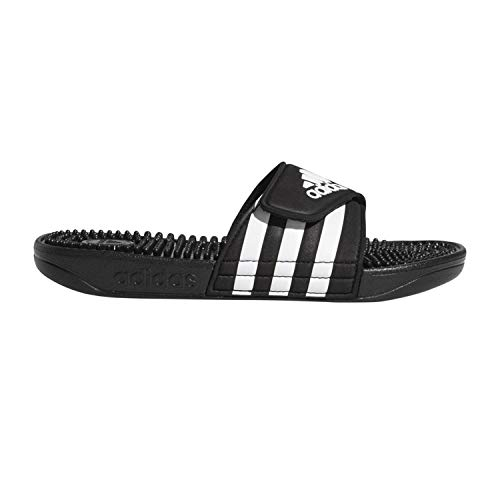 adidas Unisex-Kid's Adissage Slide, Black/White/Black, 5 M US Big Kid
