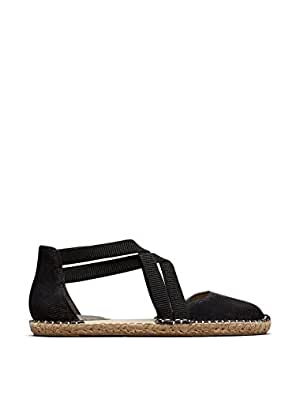 Kenneth Cole Reaction Womens Black Faux-Leather How To Dance Espadrille Flat 5.5 M US