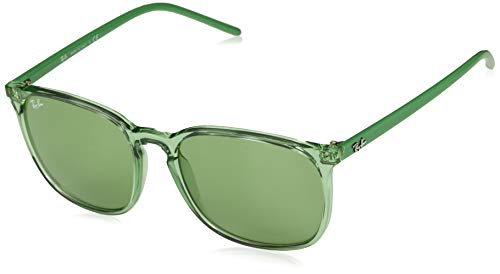 Ray-Ban Men's RB4387 Round Sunglasses, Transparent Green/Green, 56 mm (Polaroid Sunglasses Ray Ban)
