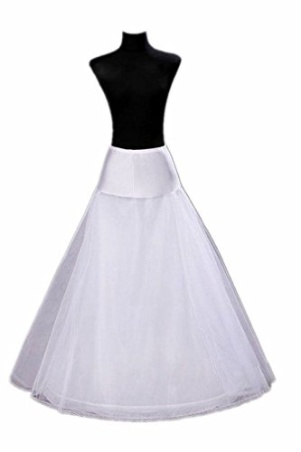 A-line Full Gown Floor-length Bridal Dress Gown Slip Petticoat
