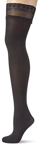 GLAMORY Damen Halterlose Stütz-Strümpfe Vital 70 DEN, Schwarz (Schwarz), X-Large (Herstellergröße: XL-(48-50))
