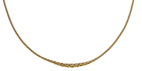 femme collier palmier en chute or jaune 18 k 750/1000
