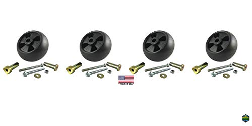 (Parts 4 Outdoor 4 DECK WHEEL + 6 PIECE HARDWARE KITS JOHN DEERE AM133602 AM116299 M111489)