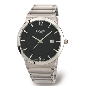 Boccia Men's Quartz Watch Superslim 3565-02 with Metal Strap