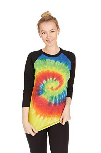 Tie Dye Style Long Sleeve T-Shirt, Rainbow, Small