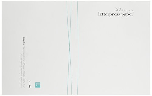 QUICKUTZ We R Memory Keepers Letterpress Paper, A2-Size, Fold-Style, 20-Pack, White