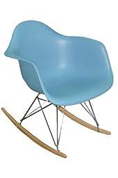 Pangea Home Dana Rocking Chair, Blue