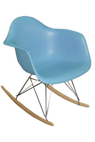 Pangea Home Dana Rocking Chair, Blue by Pangea Home