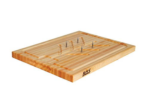 John Boos Carving Board with Spikes 20 x 15 x 1.25 (Carving Board Spikes)