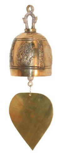 Temple Bell Brass Wind Thai Decor Home Garden (Bell Temple Brass)