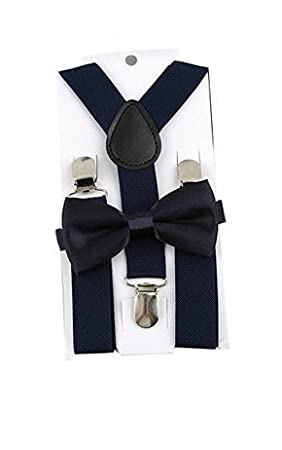 5Five Ragazzi ragazze Bretelle regolabili Elastico Fasce 3 Clip Suit Pantaloni unisex Clip