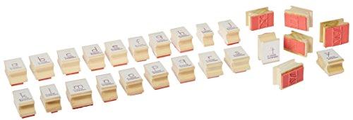 Center Enterprise CE863 Lowercase Directional Manuscript Alphabet Stamp, ()