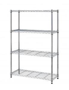 36''x14''x54'' 4 Tier Layer Shelf Adjustable Steel Wire Metal Shelving Rack T54 Chrome