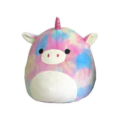 "Squishmallow 12"" Plush Soft Animal Pillow Toy (Esmeralda The Rainbow Tie Dye Unicorn): Toys & Games"